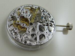 UNIQUE Mouvement squelette Seagull ST36 type UNITAS 6497 SKELETON watch Uhrwerk