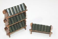 NEW Dolls House Furniture Miniature Wooden Book Rack with Books 1/12th Scale
