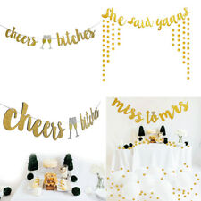 GOLD CHEERS BITCHES BUNTING HEN PARTY BANNER BACHELORETTE ENGAGEMENT PARTY DECOR