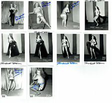 "10x Tempest Storm Signed Irving Klaw Original Photo From Negative 4""x5"" - TS23"
