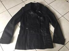 Parka manteau IKKS taille 38 noir très bon état