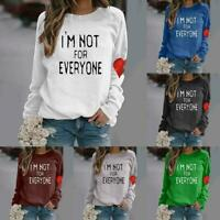 Ladies All-match Love Sweater Tops Long-sleeved Sweater Basic Couples Q0Y8