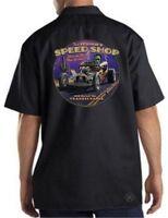FAST FRANKIE'S Speed Shop Mechanics Work Shirt ~ Dickies ~ Frankenstein Rat Rod