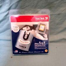 NIP SanDisk USB 2.0 5 In 1 Card Reader/Writer With Defibtech Data Card DDD-6*