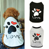 Pet Dog Cat Clothes Summer Cotton Vest T Shirt Paw Puppy Chihuahua Summer Shirts