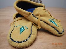 TRADITIONAL MOCCASINS, WARM & COMFY 9.5 INCHES FLEECE LINED, DOUBLE SOLE,LEATHER