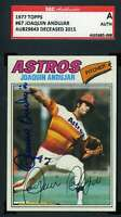 Joaquin Andujar 1977 Topps Rookie SGC Coa Autograph Authentic Hand Signed