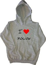 I Love Heart Moscow Kids Hoodie Sweatshirt