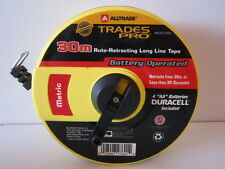 ALL TRADE METRIC TAPE MEASURE. 30M. BATTERY OPERATED..