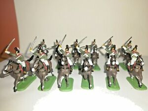 PAINTED SOLDIERS 1/72 20mm - RUSSIAN DRAGOONS - NAPOLEONIC WARS x 12 HAT