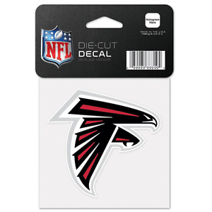 Atlanta Falcons Car Window Decal 4 Die Cut Logo