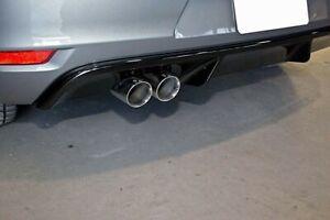 For VW Golf MK6 6 GTD Low Rear Bumper Diffuser Spoiler Lip  Valance Splitter