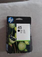 Genuine HP 45 51645AE Cartucho de impresión de tinta negra. octubre De 2012, nuevo
