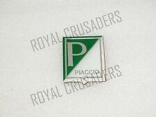 NEW VESPA HORNCAST BADGE PIAGGIO LOGO DARK GREEN/WHITE