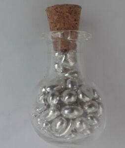 FOURTEEN + GRAMS FOUR NINES FINE SILVER SHOT IN GLASS VIAL