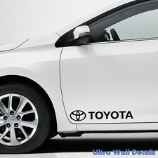 2 x Toyota Corolla RAV4 Avensis Yaris Prius Aufkleber Sticker für Alle Toyota
