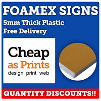 Foamex Sign Boards Advertising | Custom Printed on 5mm Rigid Plastic Foam Sheet