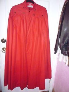 """* Celebrity owned rare Valentino vintage """"red riding hood"""" rain cape/coat"""