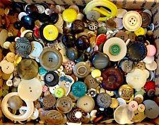 Buttons! Huge Lot Ten Pounds Vintage Sewing Buttons 10lb Estate Sale Mix 10Pd2