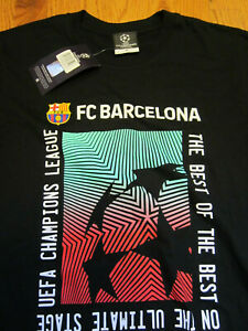 FCB FC Barcelona Futbol T-Shirt BRAND NEW Tee Medium Black Messi Official Barça