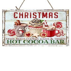 Christmas Hot Cocoa Bar Christmas Printed Handmade Wood Sign