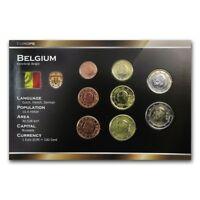 BELGIUM 8 COINS SET: 1, 2, 5, 10, 20, 50 EURO CENT, 1, 2 EURO 1999-2013 UNC