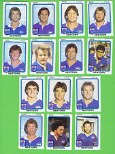 1981  NEWTOWN  JETS  SCANLENS RUGBY LEAGUE CARDS