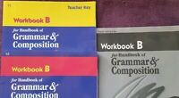 Abeka Workbook B Handbook Grammar & Comp. Student & Teacher Key & Test/Quiz Key