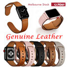 Genuine Leather Strap iWatch Band for Apple Watch Series 7 6 5 4 3 21 SE 40mm 44