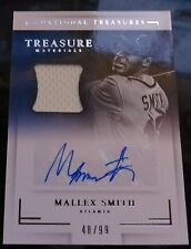 2016 National Treasures Mallex Smith Braves Jersey Relic Card 48/99