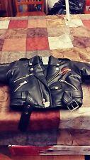 Harley Davidson Zippered Pseudo Leather jacket for 24 month old