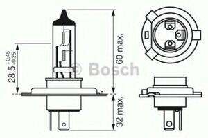 Genuine BOSCH XENON BLUE 472 H4 12V 60/55W P43T - 1987302045