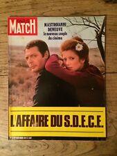 Paris Match du 4 dec 1971 Deneuve et Mastroianni / Affaire du S.D.E.C.E