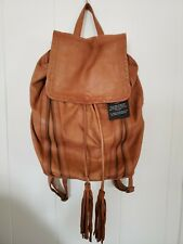Day and Mood  genuine leather Backpack   Pine camel