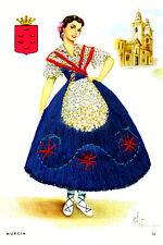 "Postal de flamenco-Mujeres de Murcia #32 Lienzo Arte Cartel 16""x 24"""