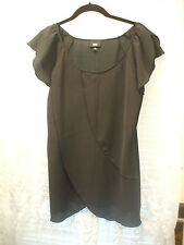 Beautiful Black Blouse With Three Overlapping Layers of Material in Front