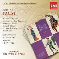 "CLUYTENS/GEDDA/ANGELES/CHRISTO ""FAUST"" 3 CD+CD-ROM NEU"