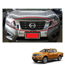 Front Grill Grille Cover Chrome for Nissan NP300 Frontier Navara 2015 2016 2017