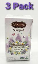 Organic Chamomile & Lavender Tea, Celestial Seasonings, 20 tea bag 3 pack dented