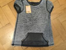 NWT Juicy Couture New Genuine Grey Short Sleeved Cotton T-Shirt Girls Age 6