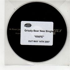 (FU333) Grizzly Bear, Knife - 2007 DJ CD