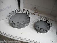 2x Zink Teelicht Set Kerzenhalter SHABBY Tannenbaum Teelichthalter Windlicht