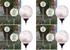 "BUY 3 GET 1 SET FREE: 3.5"" Dia Crackle Glass Ball Solar Lights  incl. 12 Lights"