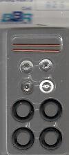 roues à rayons BBR 1/43e pour voitures années 50-55 référence R25