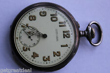 VINTAGE ULYSSE NARDIN LOCLE & GENEVE USA CORPS OF ENGINEERS SILVER POCKET WATCH