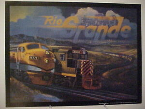 """Railroad Art, Winfield, D&RGW """"Plainview Collage"""", 18X24"""", signed"""