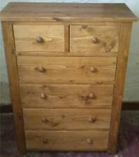 NEW SOLID WOOD 6 DRAWER CHEST DRAWERS UNIT SIDEBOARD RUSTIC PLANK PINE FURNITURE