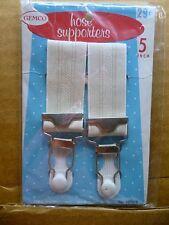 Vintage GARTERS Suspender CLIPS GARTER BELTS Girdles CORSETS Nylon STOCKINGS #4