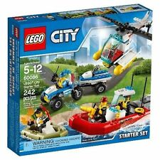 60086 LEGO CITY STARTER SET LEGOS town SEALED NEW fireboat helicopter boat 4x4