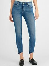 NWT DL1961 Sz28 FARROW HIGH RISE RAW HEM SKINNY STRETCH JEANS BURTON WASH
